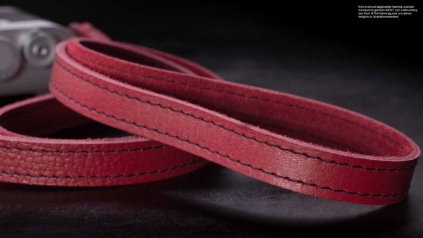 Camera shoulder strap in red with black stitching by Rock n Roll Camera Straps Gr.L
