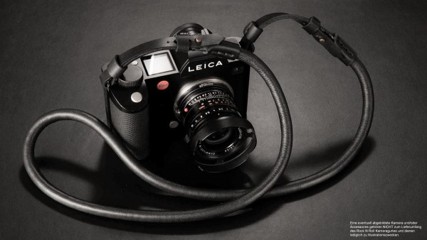 Camera strap for Leica SL2 SL S | Nappa leather | rope | black | Rock n Roll |100cm