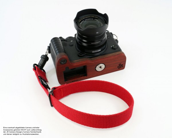 Camera hand strap with Quick Release | Red | JB Camera Designs | Made in USA