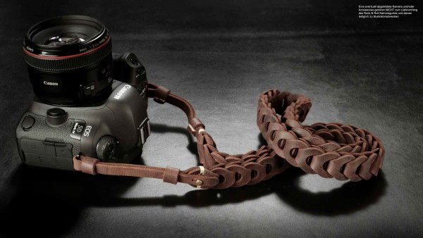 Design camera strap for DSLR made of leather in brown by Rock n Roll Straps | Gr.L