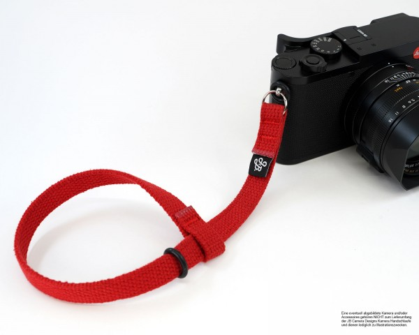Camera hand strap by JB Camera Designs in red | durable cotton fabric