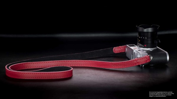 Leather Camera Straps in Red Black | Rock n Roll Camera Straps | Gr.S
