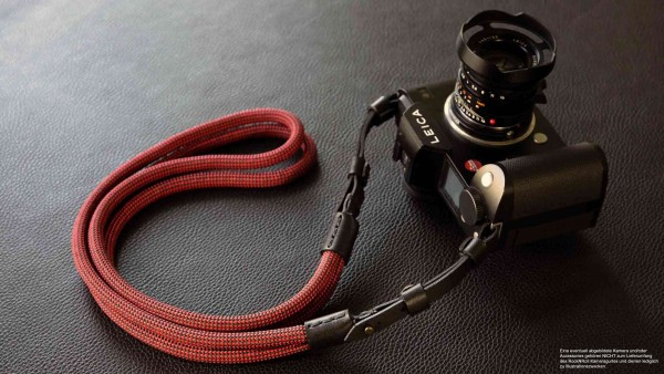 Camera strap made of poly silk rope and leather for Leica SL and S | Rock N Roll Straps