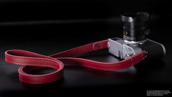 Retro Kameragurt in Rot aus Leder | Rock n Roll Camera Straps | Handmade | Gr.S