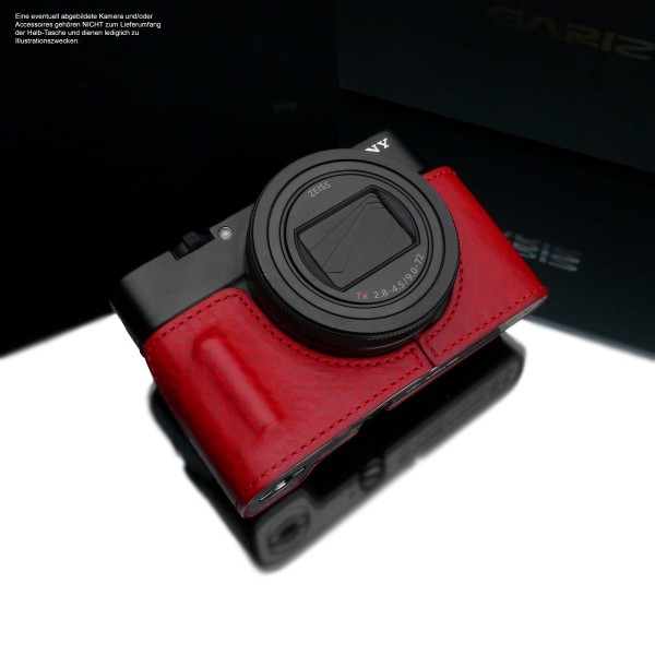 Small camera case for Sony RX100 VI Sony RX100 VII | Leather Red | Gariz Design
