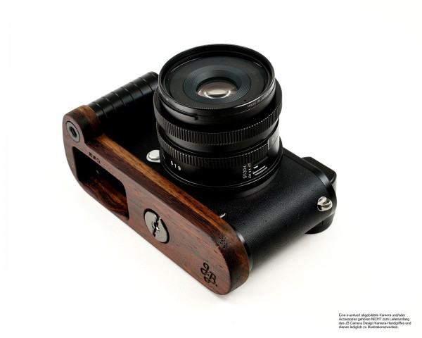 Camera grip for Leica CL camera made of wood | Brown Dark brown | JB Camera Designs USA