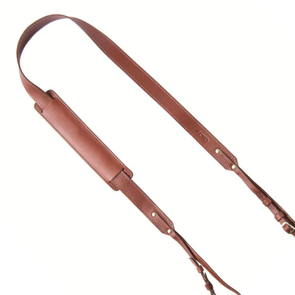 Design Kameragurt aus Leder | FOTOStrap The Skinny - Dutch | Braun Dunkelbraun