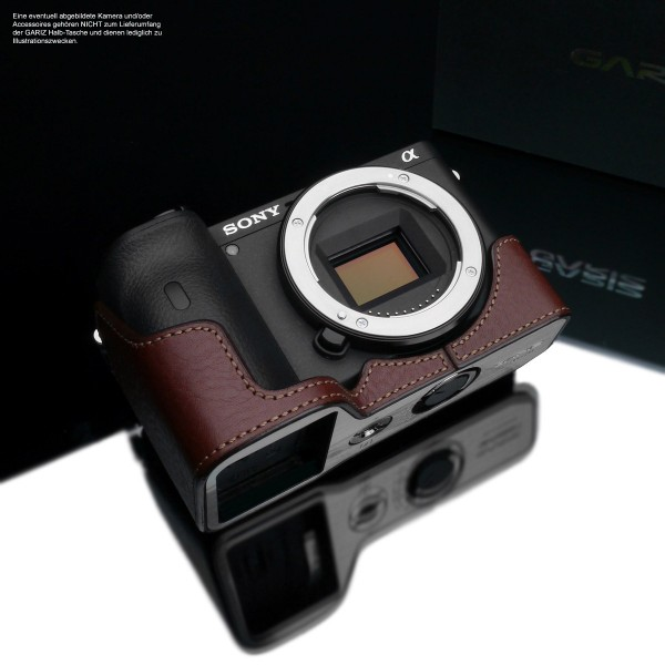 photo case for Sony Alpha 6600 | ILCE-6600M | leather in brown | Gariz design
