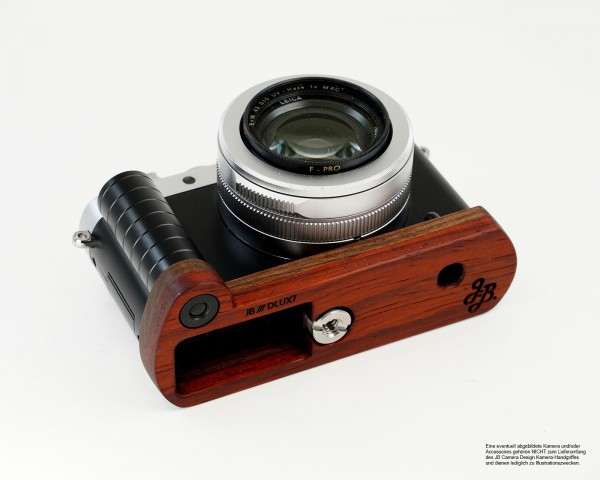 Camera grip for Leica D-Lux 7 and Leica D-Lux Type 109 made of wood | JB Camera Designs