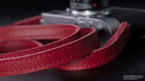 Shoulder strap for cameras made of leather in red | Rock n Roll Camera Straps | Gr.L