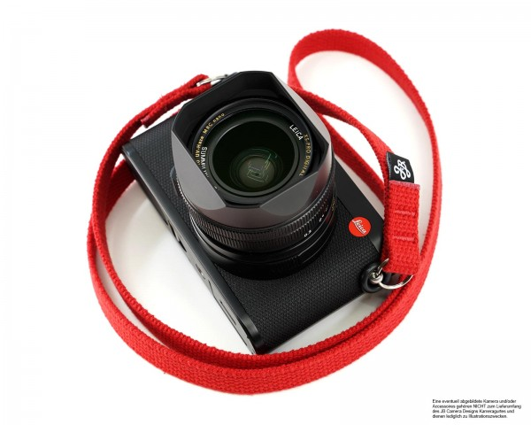 Camera carrying strap by JB Camera Design | cotton red | handmade | ca.105cm