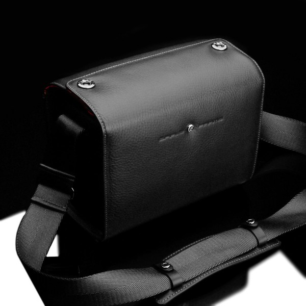 Small leather photo bag for system cameras & SLRs | Black | Gariz