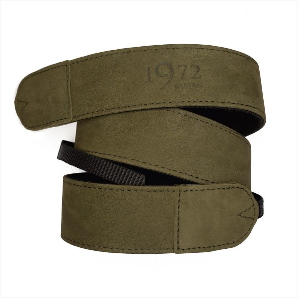 Carrying strap for DSLR cameras | leather and nylon | Barton1972 | green