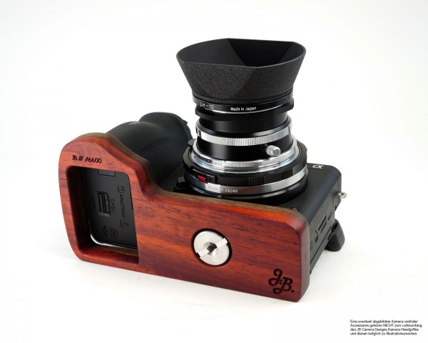 Grip extension for Sony Alpha 6600 | ILCE-6600M | wood | JB Camera Designs