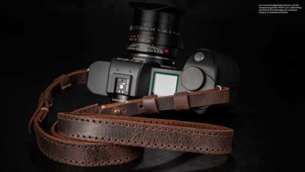 Vintage leather camera strap for Leica SL2 SL S | Brown | Rock n Roll Straps | S