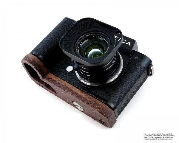 Grip extension for Leica SL2 Camera | Wenge Wood | Brown | JB Camera Designs