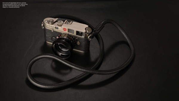 Nappa leather camera strap and rope in black | Rock n Roll Camera Straps |100cm